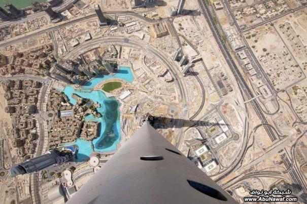منظر روعة من اعلى نقطة في برج خليفة
