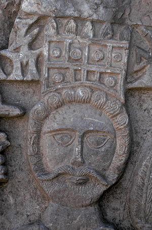 صورة لملك حميري على ظفار يريم