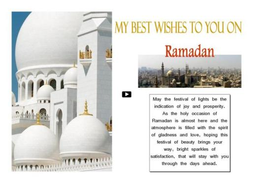 My Best Wishes To You On Ramadan