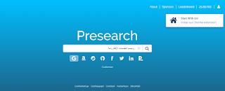 إستخدام بحث Presearch