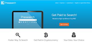 طريقة الإشتراك في Presearch